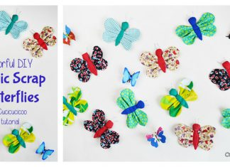 Scrap Fabric Butterfly Free Sewing Pattern