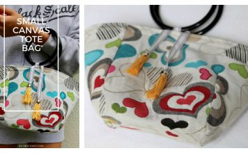 Small Canvas Tote Bag Free Sewing Pattern