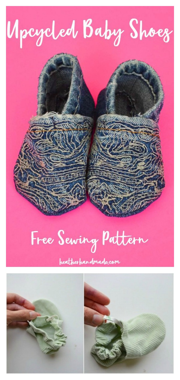 Upcycle Baby Shoes Free Sewing Pattern and Video Tutorial