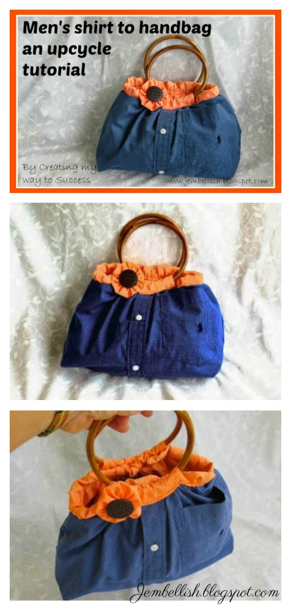 Upcycle a Shirt into A Bag Free Sewing Pattern