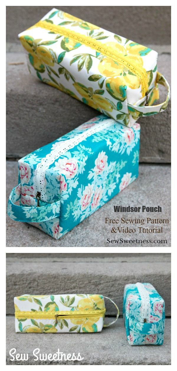 Windsor Pouch Free Sewing Pattern and Video Tutorial