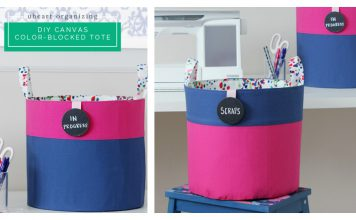 Canvas Color-Blocked Totes Free Sewing Pattern