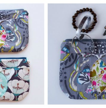 Cat-Eye Zippered Pouch Free Sewing Pattern