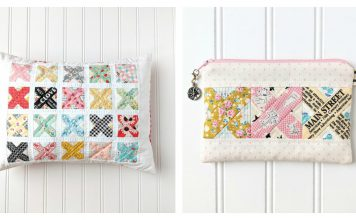 Cross Stitch Quilt Block & Pillow Free Sewing Pattern