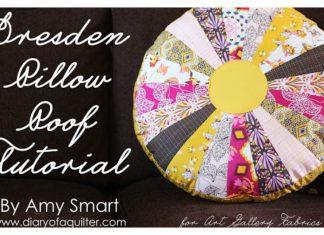 Dresden Pillow Free Sewing Pattern