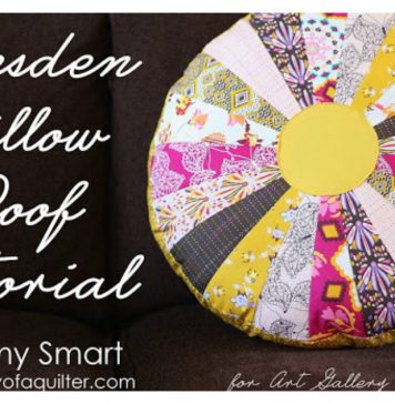 Dresden Pillow Free Sewing Pattern