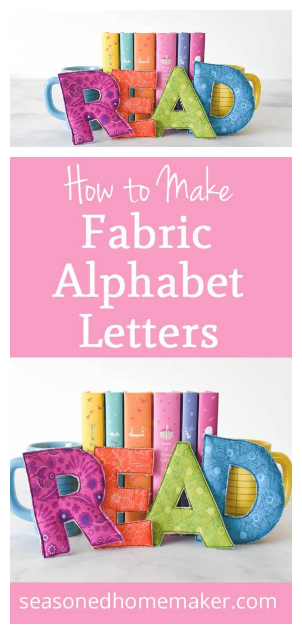 Fabric Alphabet Letters Free Sewing Pattern