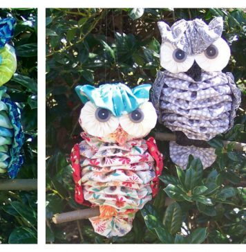 Fabric Yo-Yo Owl Sewing Pattern