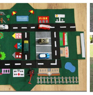 Felt Car Play Mat-House Free Sewing Pattern