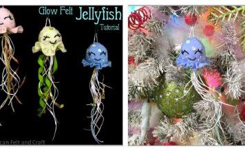 Glow Felt Jellyfish Free Sewing Pattern