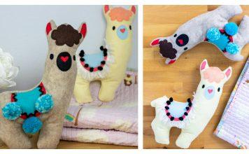 Llama Stuffie Free Sewing Pattern