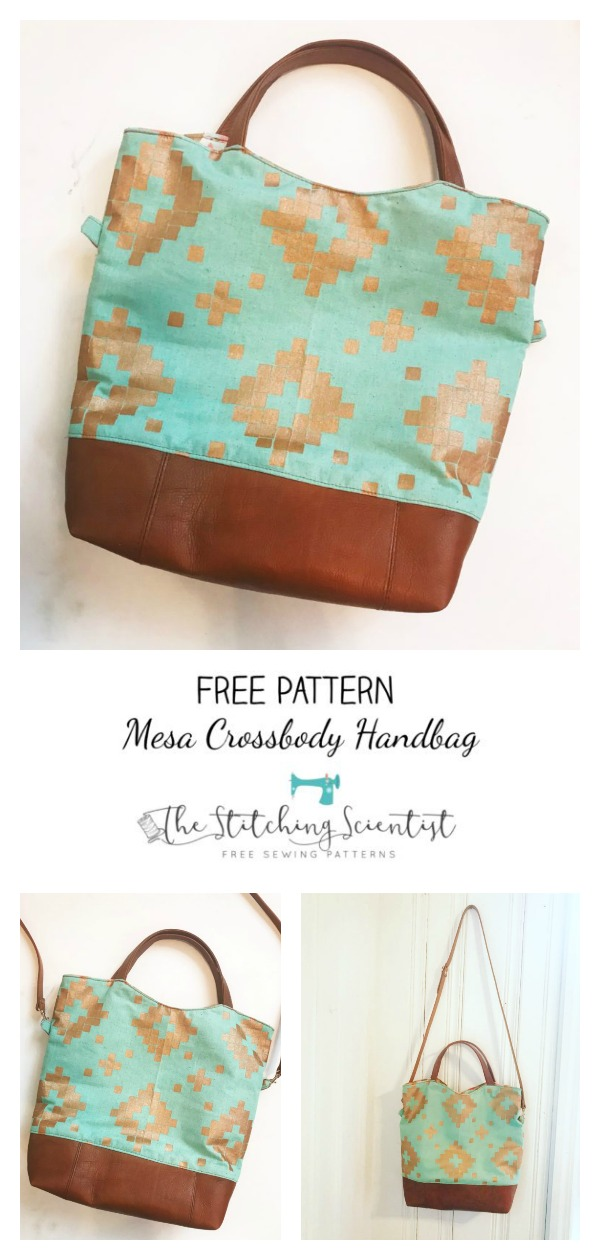 Mesa Crossbody Handbag Free Sewing Pattern