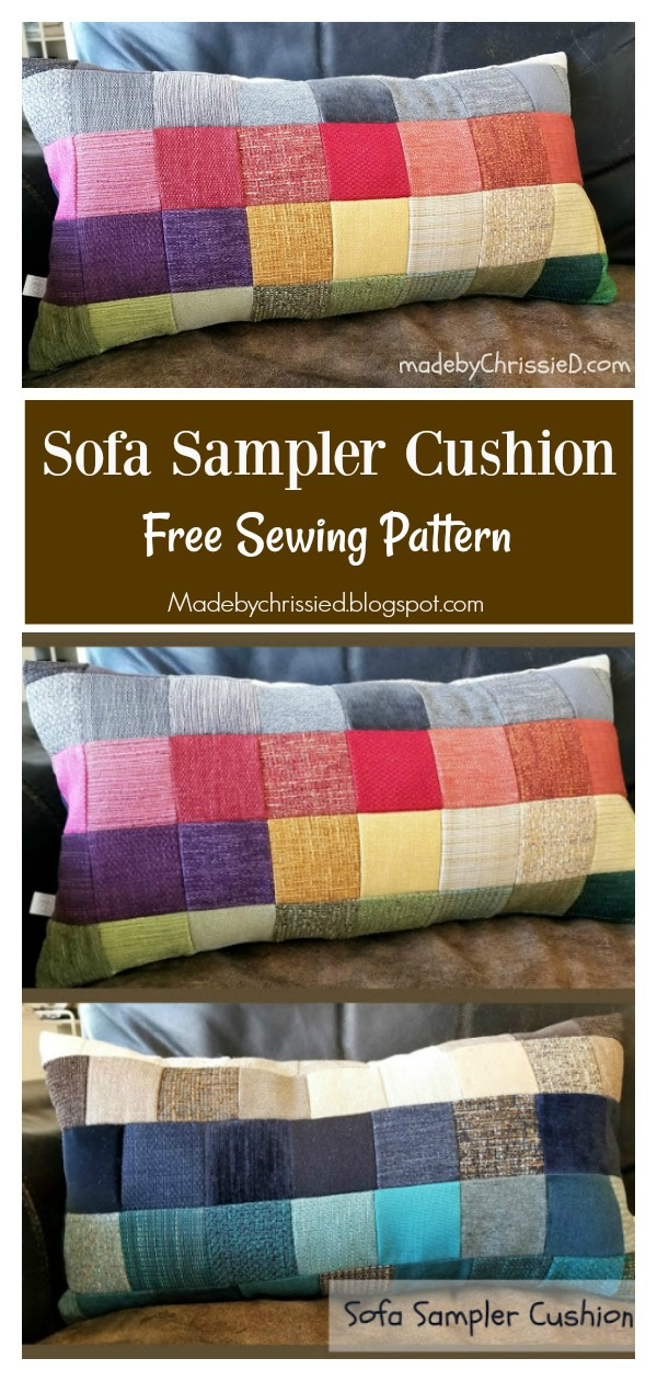 Patchwork Sofa Sampler Cushion Free Sewing Pattern