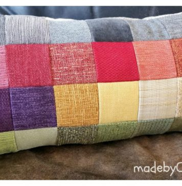 Patchwork Sofa Sampler Cushion Free Sewing Pattern