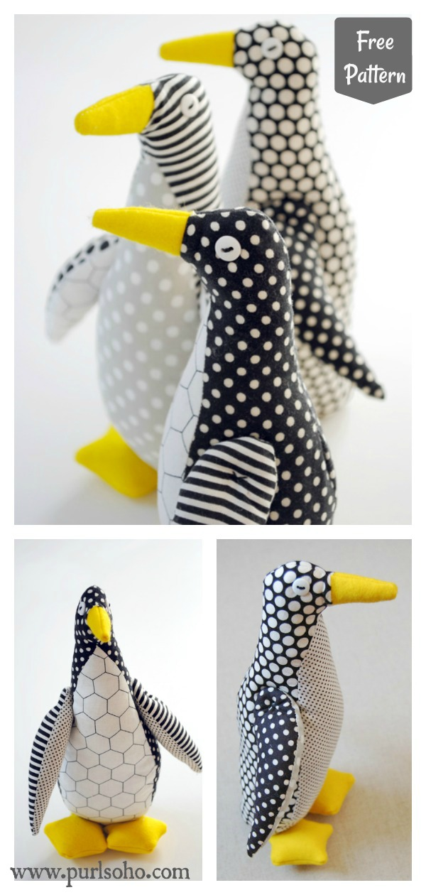Penguin Free Sewing Pattern