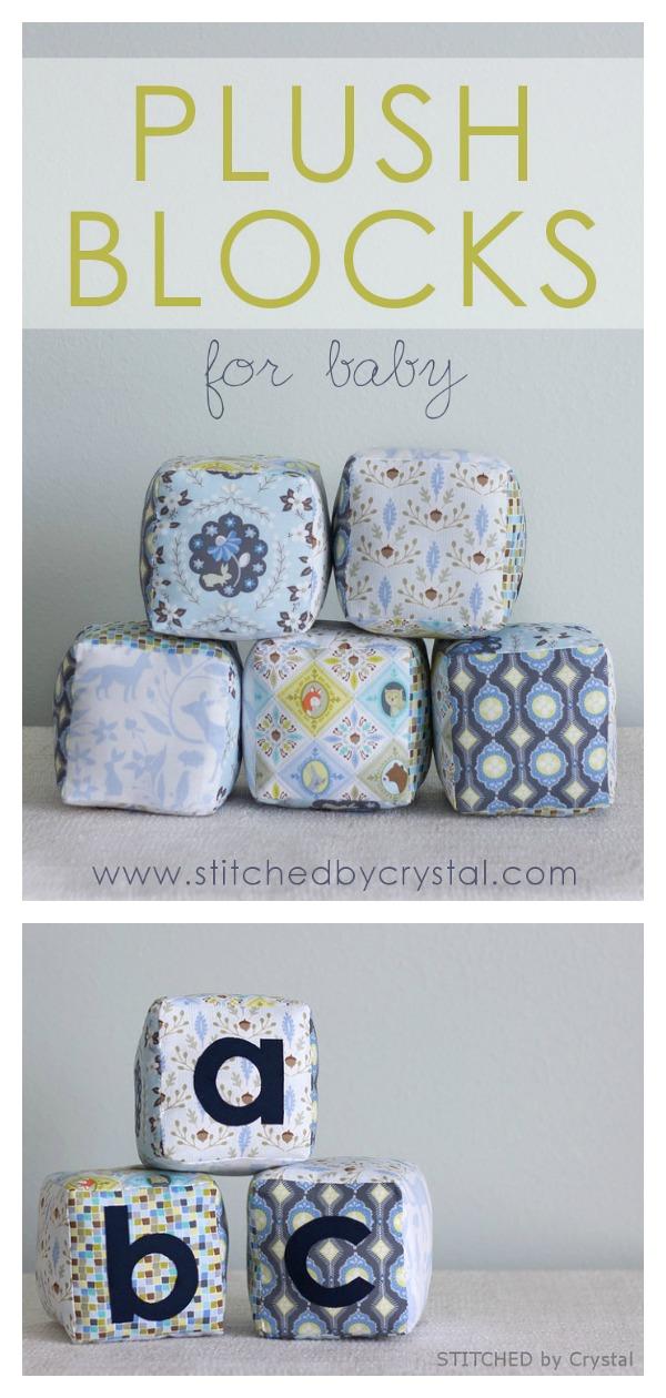 Plush Blocks for Baby Free Sewing Pattern