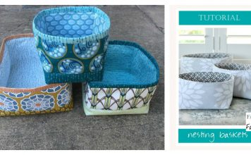 Square Nesting Baskets Free Sewing Pattern