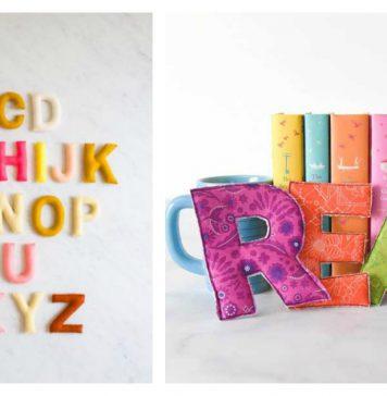Stuffed Fabric Letters Free Sewing Pattern