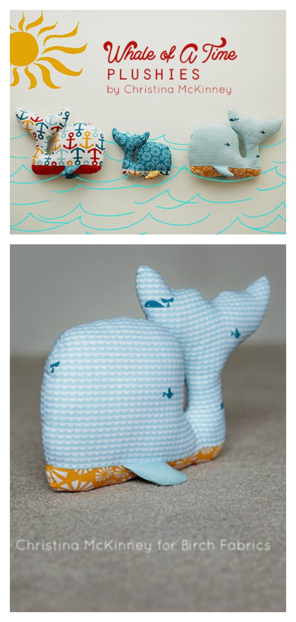 Stuffed Whale Free Sewing Pattern