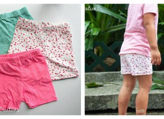 Summer Shortie Leggings Free Sewing Pattern