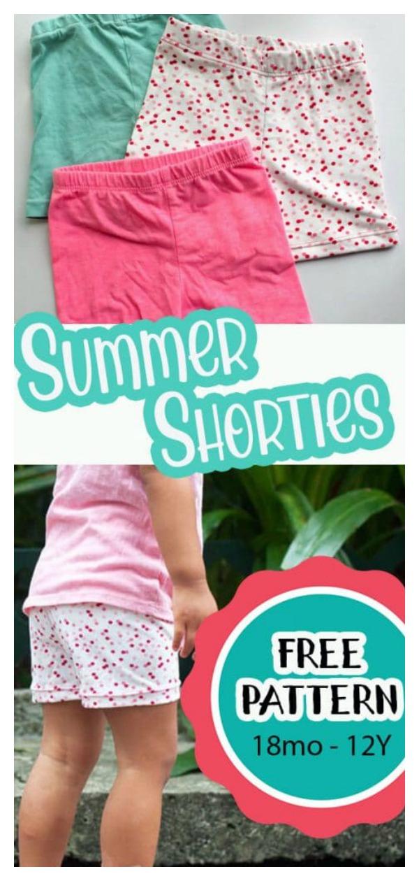 Summer Shortie Leggings Free Sewing Pattern
