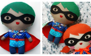 Superhero Soft Toy Free Sewing Pattern and Template