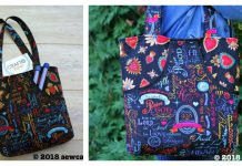 The Peeking Pocket Tote Bag Free Sewing Pattern