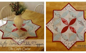 Winter Seeds Table Topper Free Sewing Pattern