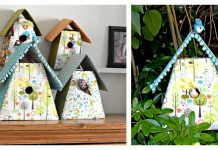 Fabric Birdhouses Free Sewing Pattern with Template