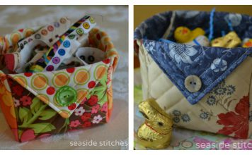 Fabric Box Free Sewing Pattern