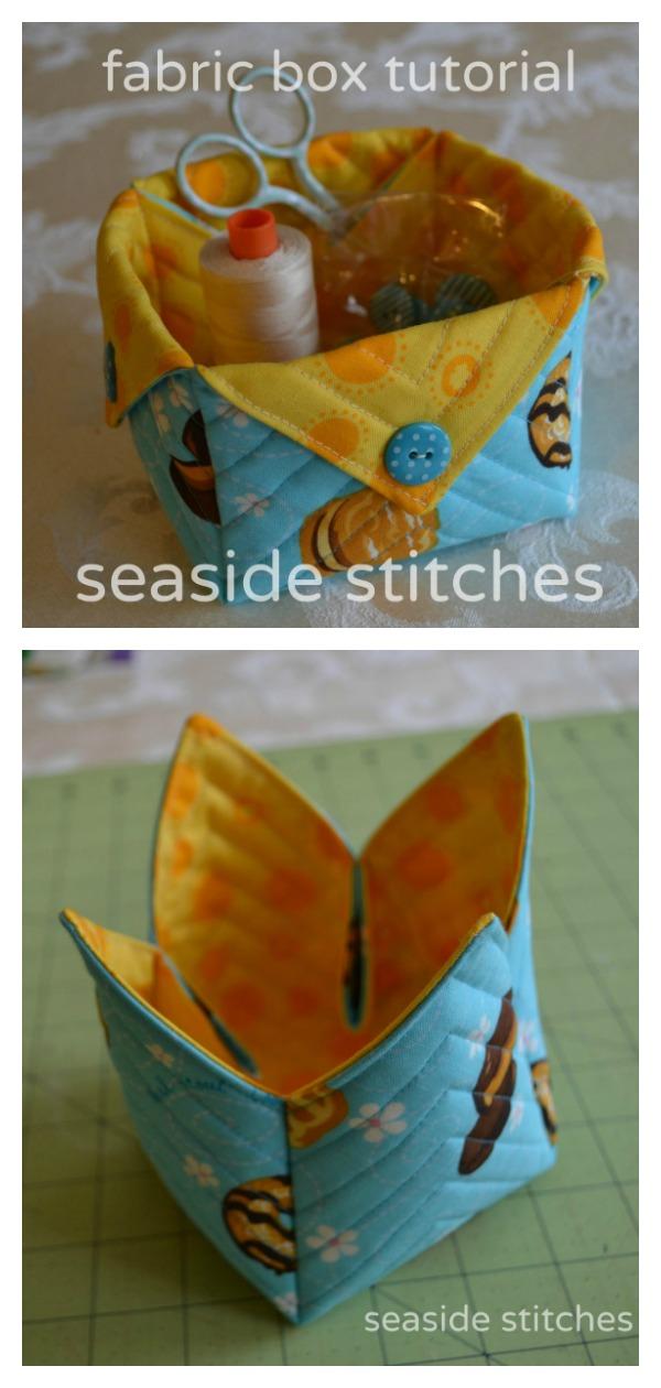 Fabric Box Free Sewing Pattern