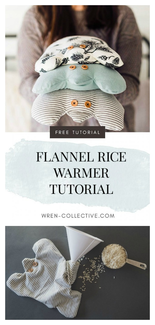 Flannel Rice Frog Free Sewing Pattern and Template