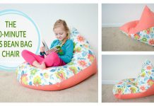 Kids Bean Bag Chair Free Sewing Pattern