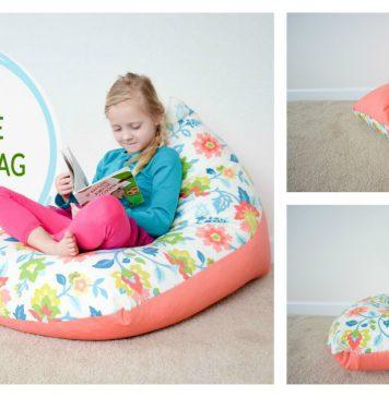 Kids Bean Bag Chair Free Sewing Pattern