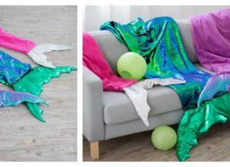 Mermaid Tail Blanket Free Sewing Pattern
