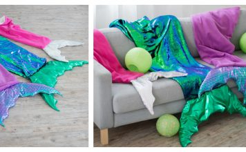 Mermaid Tail Blanket Free Sewing Pattern
