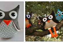 Owl Stuffies Free Sewing Pattern