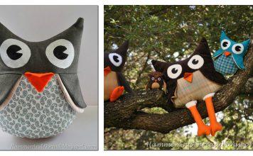 Owl Stuffies Free Sewing Pattern