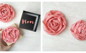 Ribbon Rose Flowers Free Sewing Pattern
