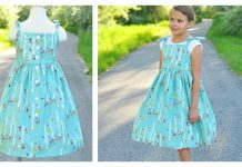 Vintage Dress Free Sewing Pattern