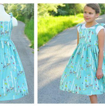 Vintage Dress Free Sewing Pattern