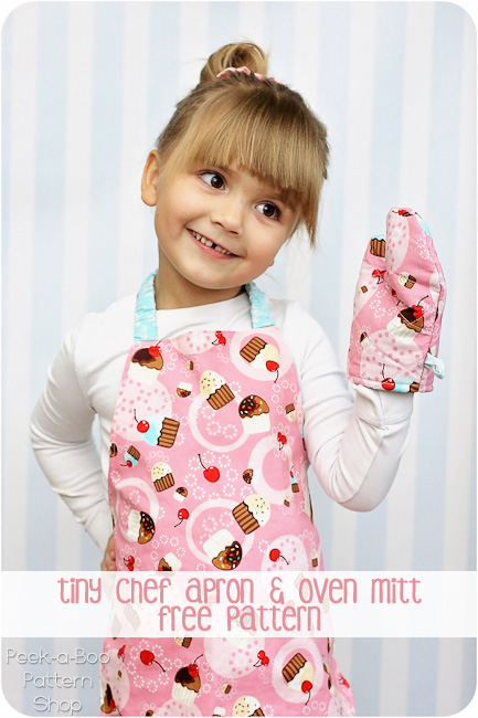Toddler Apron Pattern & Toy Oven Mitt Free Sewing Pattern