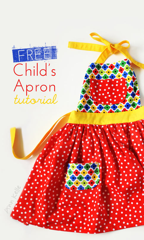 Child's Apron Free Sewing Pattern