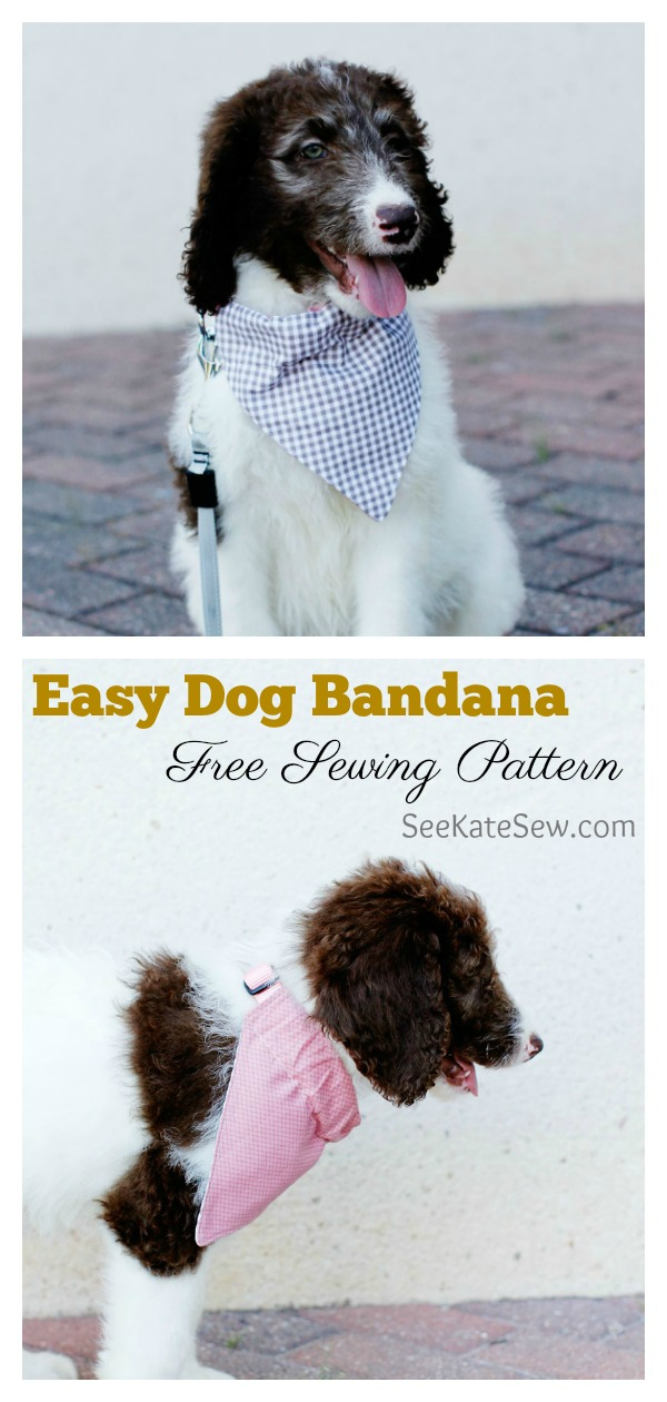 Easy Dog Bandana Free Sewing Pattern