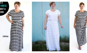 How to Sew an Easy Maxi Dress without Pattern