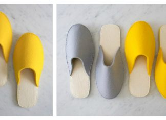 Spa Slippers Free Sewing Pattern
