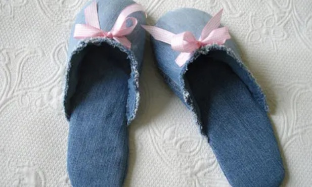 Spa Slippers from Jeans Free Sewing Pattern