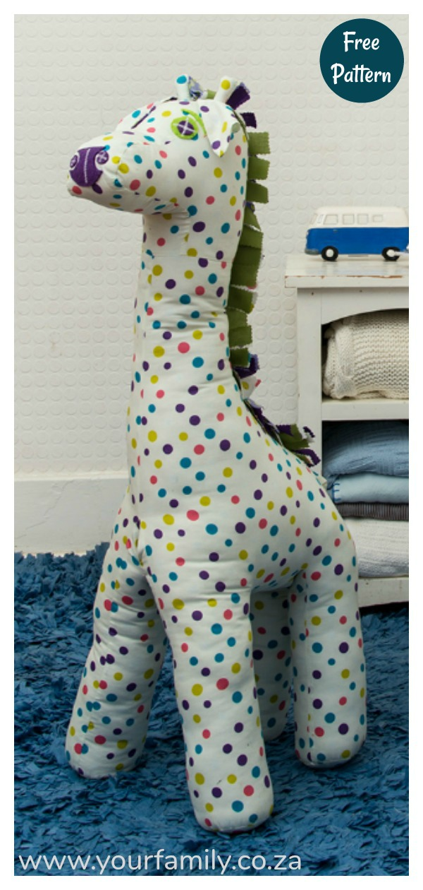 Adorable Giraffe Toy Free Sewing Pattern
