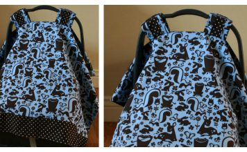 Baby Car Seat Cover Tutorial
