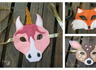 Felt Animal Masks Free Sewing Pattern